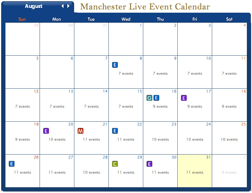 Murphy's Taproom Manchester live event calendar